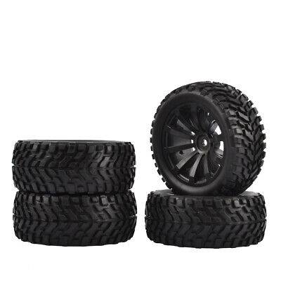 1/10 RC Rally Car Grain Rubber Tyres Off-road Tires Wheels For Traxxas 4PCS • 12.99£