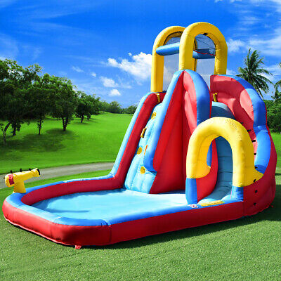 Kids Bouncy Water Castle Inflatable Water Park Jumper Play House Bounce Jumping • 329.99£