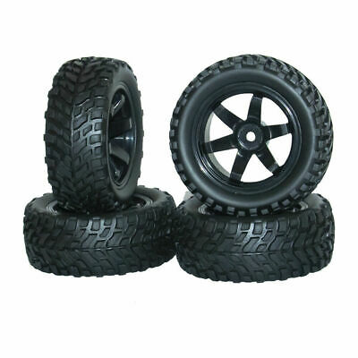 RC Car Rubber Tires Wheels Wear-resistant Tire For 1/10 On Road Car Traxxas 4PCS • 11.99£
