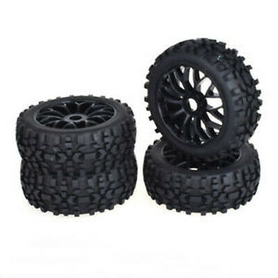4pcs 17mm Hub Tires Set Tyre Wheel Rim For 1/8 Off-Road RC Car Buggy KYOSHO HSP • 19.99£