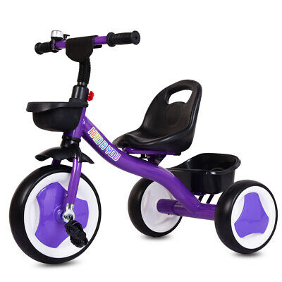 Girls Kids Children Tricycle Kids Trike 3 Wheels Ride-On Pedal Bike Toy UK Stock • 27.99£