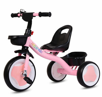 2020 New Kids Children Tricycle 3 Wheels Girls Kids Trike Ride-On Pedal Bike Toy • 25.99£
