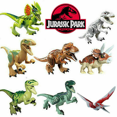 Dinosaur Fit Jurassic World Lego Dino Tyrannosaurus TRex Raptor Toy 8 Choices • 12.99£