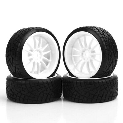 4PCS 1/10 RC Car Drift Tire Wheel Rim For HSP HPI Racing 12mm Hex Tires Wheel • 9.65£