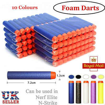 100-600 Gun Soft Refill Bullets Darts Round Head Blasters For Nerf N-Strike Toys • 9.98£