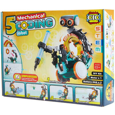 Construct And Create 5-in-1 Mechanical Coding Robot New Educational Toy  • 18.95£