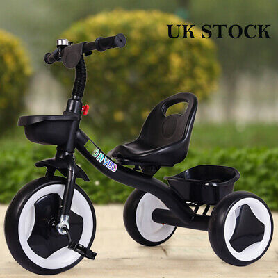 Black Children Tricycle Boys Kids Trikes 3 Wheels Ride-On Bike First Pedal Car • 27.99£