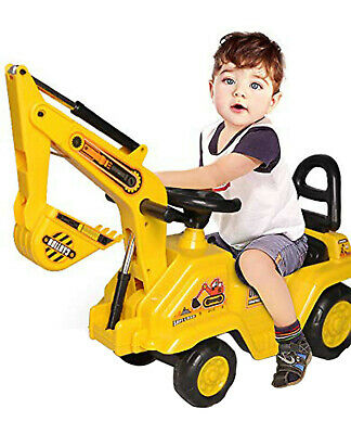 Ride On Car Children's Sit' N Ride Push Along Construction Bulldozer Digger  Uk • 36.69£
