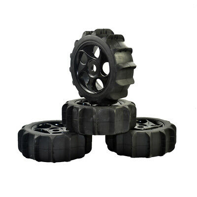 4Pcs RC 1/8 1:8 Off-road Buggy Wheels Short Card Beach Paddles Snow Sand Tyre • 19.99£