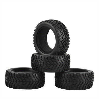 4PCS RC Rally Car Rubber Tyre Tires For 1/10 Traxxas Tamiya HPI Kyosho HSP • 11.99£