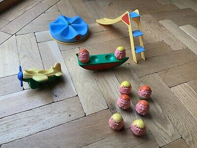 VINTAGE 1970'S AIRFIX WEEBLES PLAYGROUND And PLANE • 25£