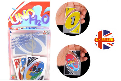 Transparent Waterproof UNO H2O Card Game Playing Card Family Fun • 7.95£