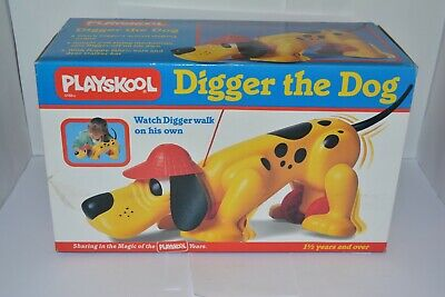 Rare Playskool Digger The Dog Pull Along Toy Unused In Box 1990 • 29.99£