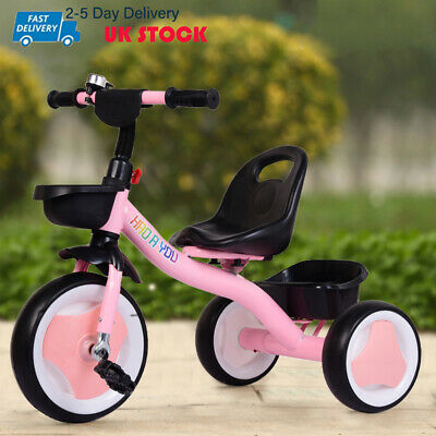 Children Tricycle 3 Wheels Girls Kids Trike Pink Ride-On Pedal Bike Kids Gifts • 27.99£