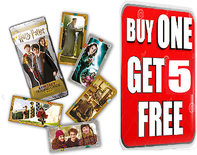 Panini ☆ Harry Potter Contact Single Trading Cards ☆ BUY 1 GET 5 FREE!! ☆ • 2.99£