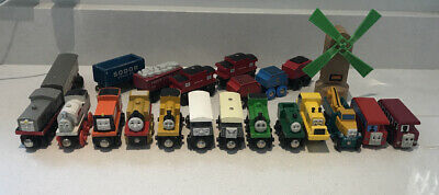 BRIO Wooden Thomas Tank Engine Trains Carriages Windmill TOAD BERTIE STEPNEY Lot • 99.99£