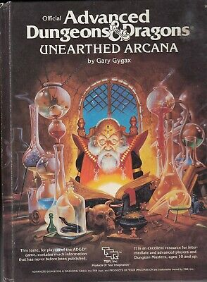 TSR AD&D UNEARTHED ARCANA 1988, 6th Edition - Gary Gygax • 13.10£