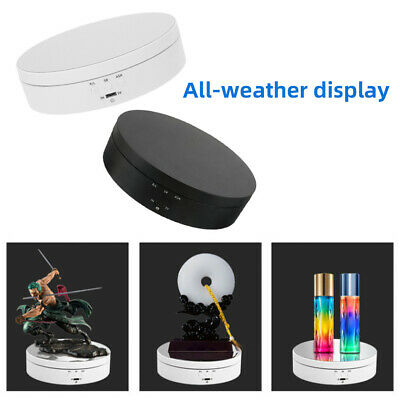 Electric 360° Rotating Jewelry Display Stands Box Turntable Hobby 3D Art Holder • 11.99£