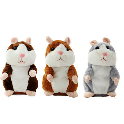 Talking Hamster Cute Nod Mouse Record Chat Pet Plush Toy Xmas Gift • 6.79£