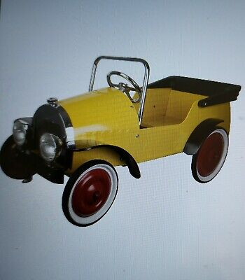 Brand New Great Gizmos Yellow Harry Classic Metal  Pedal Car Rrp £275 • 139.95£