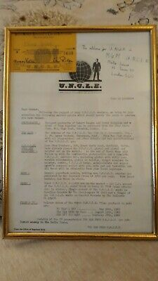 Man From Uncle Framed Membership & Advisories Of Equipment, Films And Fan Club • 20£