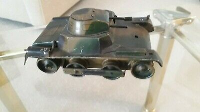 A Very Rare Vintage Lehmann Military Tank No 821 Manufactured In 1936 • 145£