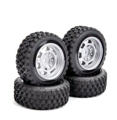 4X 1:10 Scale Rally Tires&Wheel 12mm Hex For HPI HSP RC On Road Racing Car • 14£