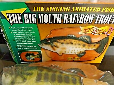 NEW In Box Big Mouth Rainbow Trout - Tested & Working  • 21£