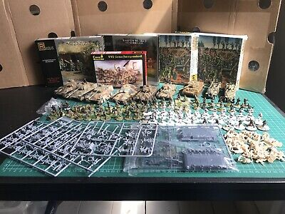 1/72 WW2 German Painted Infantry, Tanks And Spares Job Lot • 84£