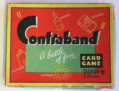 Contraband Card Game 1950's/60's By Pepys • 12£