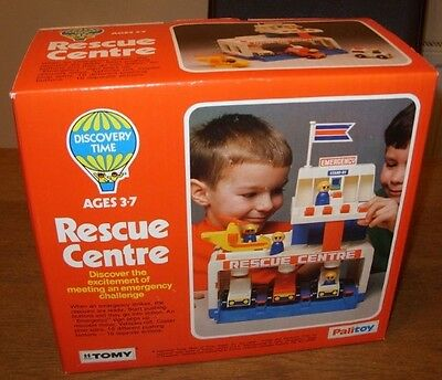 Retro Palitoy Tomy Rescue Centre Toy New Old Shop Stock Unused • 79.95£