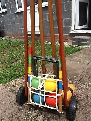 Vintage Childrens Wooden Croquet Set • 10£