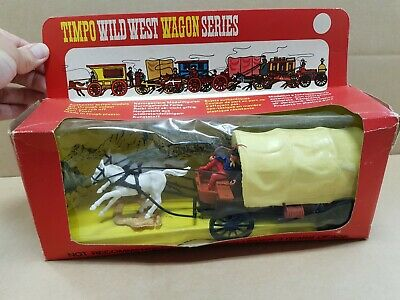 Rare Vintage Timpo Wild West Covered Wagon No. 271 - Boxed • 130£