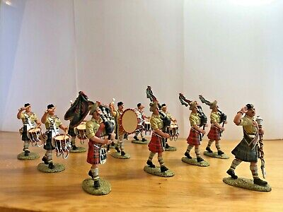 EA26 8th Army, Pipes & Drums Of The Black Watch, Tunis 1943, 12 Piece Set • 84£