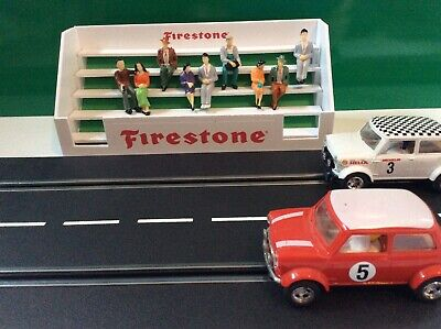 1:32 Scale Firestone  Goodwood 60s Style Grandstand Scalextric Carrera Building • 15£