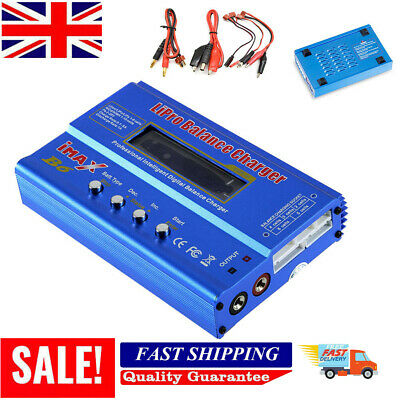 UK IMAX B6 80W AC Lipo NiMH Polymer RC LCD Digital Battery Balance Charger • 15.98£