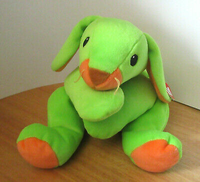Ty Pillow Pals Carrots The Bunny Rabbit Green 1998  Vintage Soft Toy Plush  BNWT • 17.99£