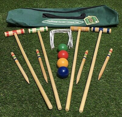 Traditional Garden Games Co Croquet Set 75cm Hardly Used • 7.50£