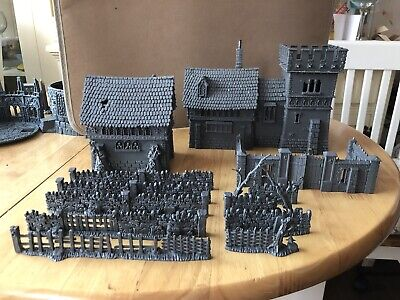 Warhammer Fortified Manor And Chapel Scenery • 150£