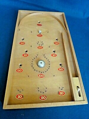 Wooden Pinball / Bagatelle Game - Made In Czechoslovakia 120955  • 10£