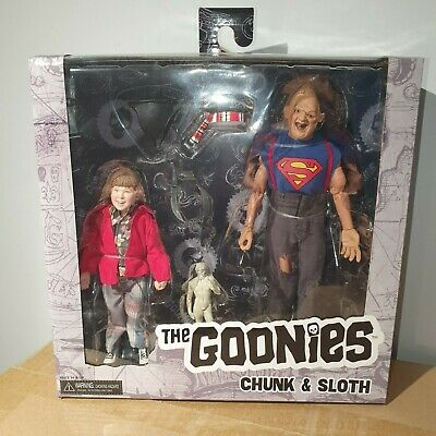 NECA THE GOONIES (1985) SLOTH & CHUNK 8  CLOTHED ACTION FIGURE 2 PACK SET 20cm • 2.20£