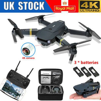 Drone X Pro WIFI FPV 4K HD Camera 3Batteries Foldable Selfie RC Quadcopter UK • 36.95£