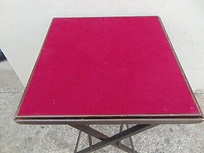 Vintage Folding Card Table /chess Table • 25£