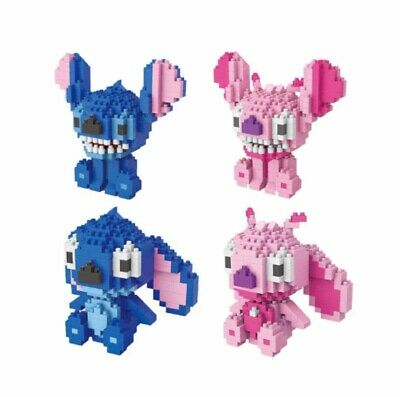 Disney Stitch Angel Lilo 3D DIY Mini Building Nano Blocks Toy UK Seller Gift • 6.99£