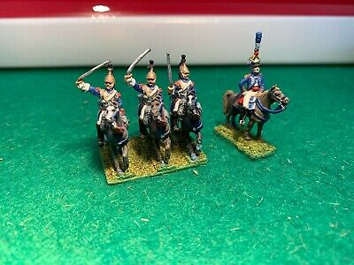 15mm Napoleonic French Cavalry With Command Unit Painted And Based • 7.10£