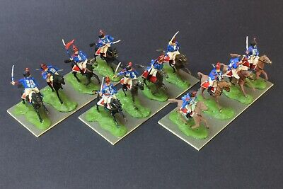 1/72 Scale Painted Napoleonic 12 Airfix BRITISH HUSSARS Cavalry Figs Wargaming • 27.99£