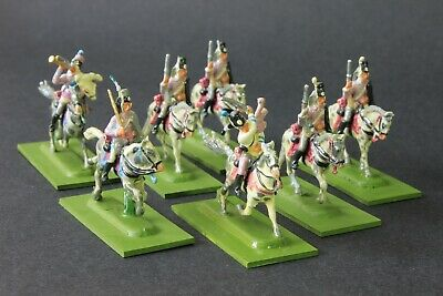 1/72 Scale  Well Painted Napoleonic PRUSSIAN HUSSARS  7 Mounted Figures Based • 28.15£