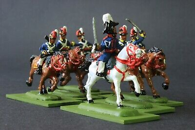 1/72 Scale  Well Painted Napoleonic Horse Guards  6 Mounted Figures Based • 28.99£