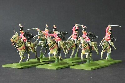 1/72 Scale  Well Painted Napoleonic PRUSSIAN HUSSARS  6 Mounted Figures Based • 27.99£