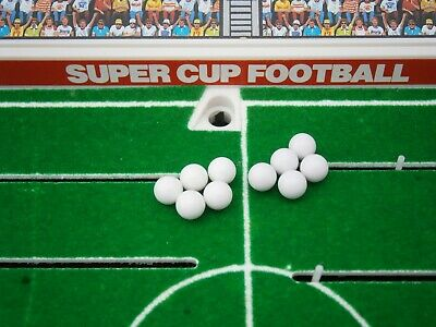 Tomy Super Cup Football Set Of 10 X Spare / Replacement White Footballs • 2.50£